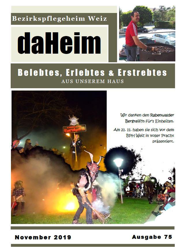 """Heimzeitung - """"daHeim"""" 2016-08"""
