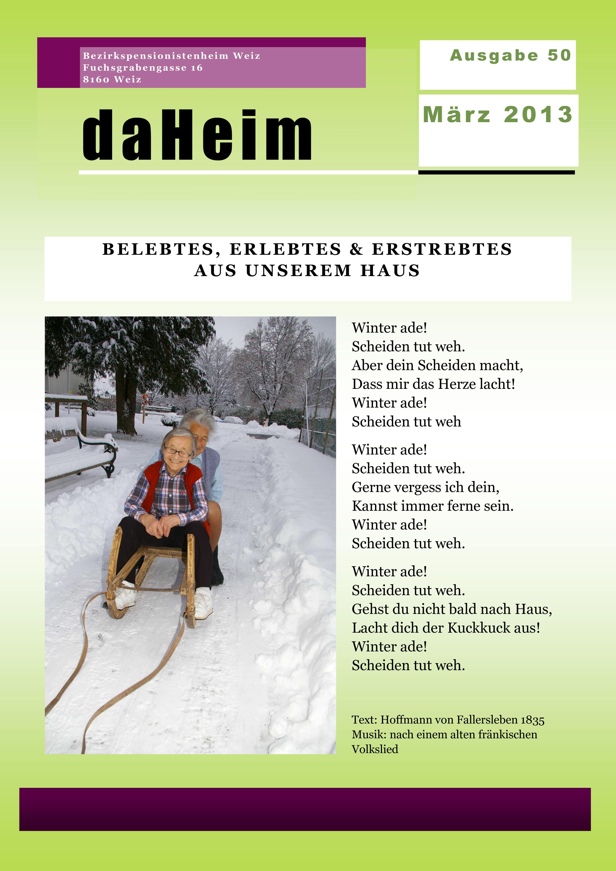 """Heimzeitung - """"daHeim"""" 2013-03"""