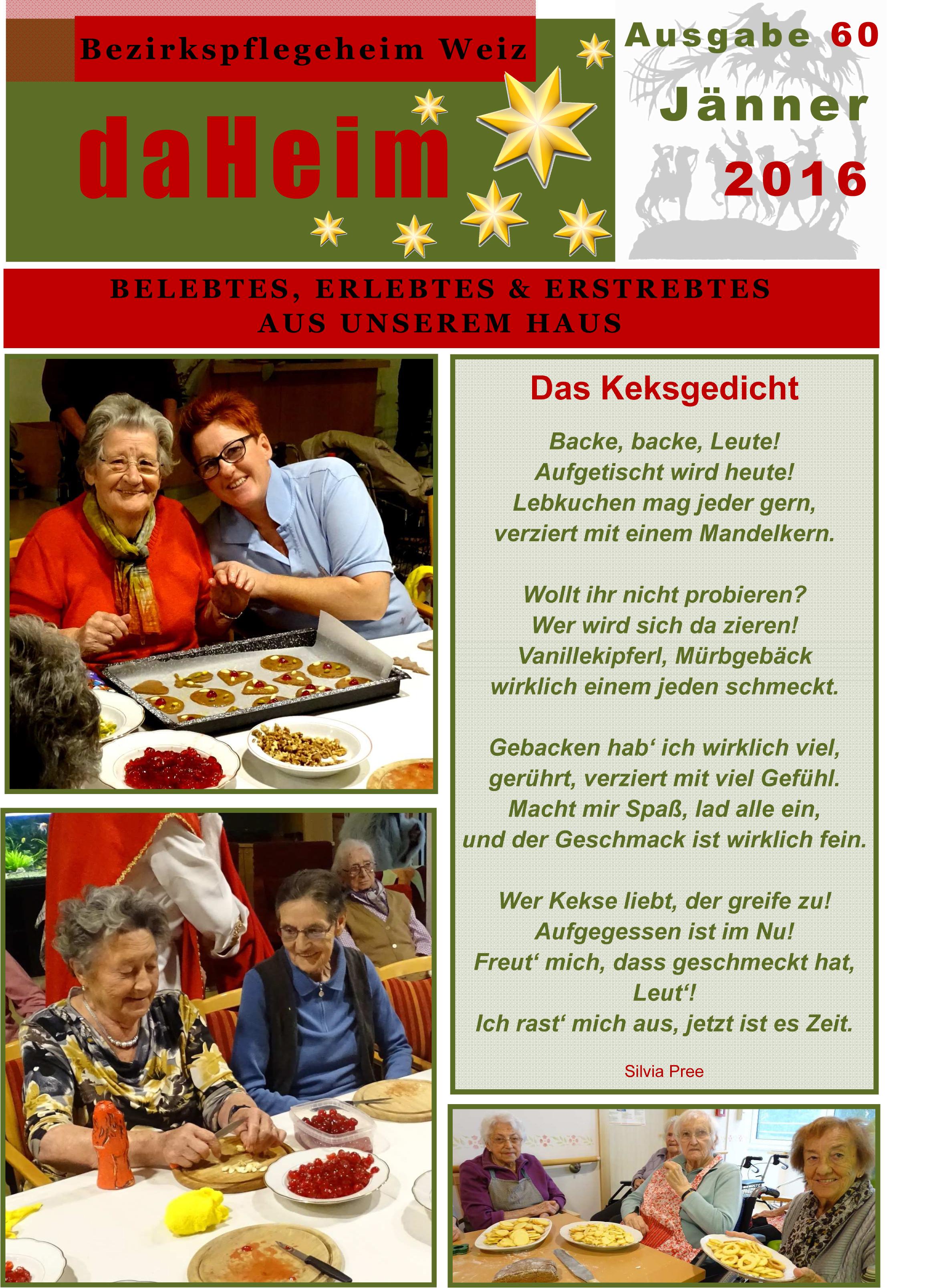 """Heimzeitung - """"daHeim"""" 2016-01"""