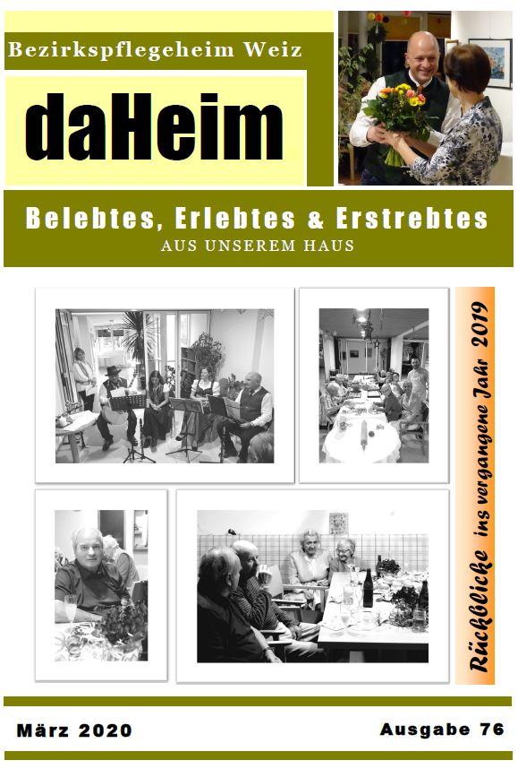 """Heimzeitung """"daHeim"""" 2020-03"""