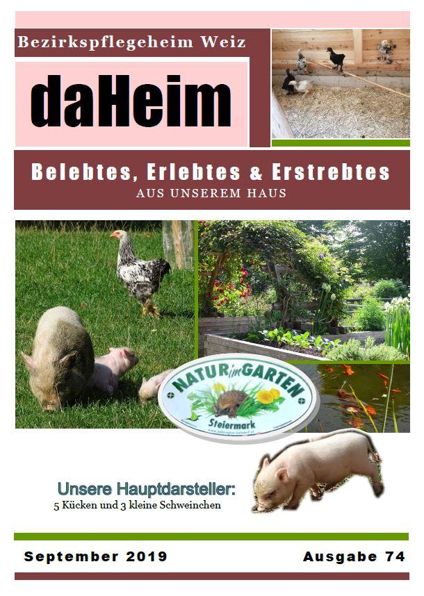 """Heimzeitung """"daHeim"""" 2019-09"""