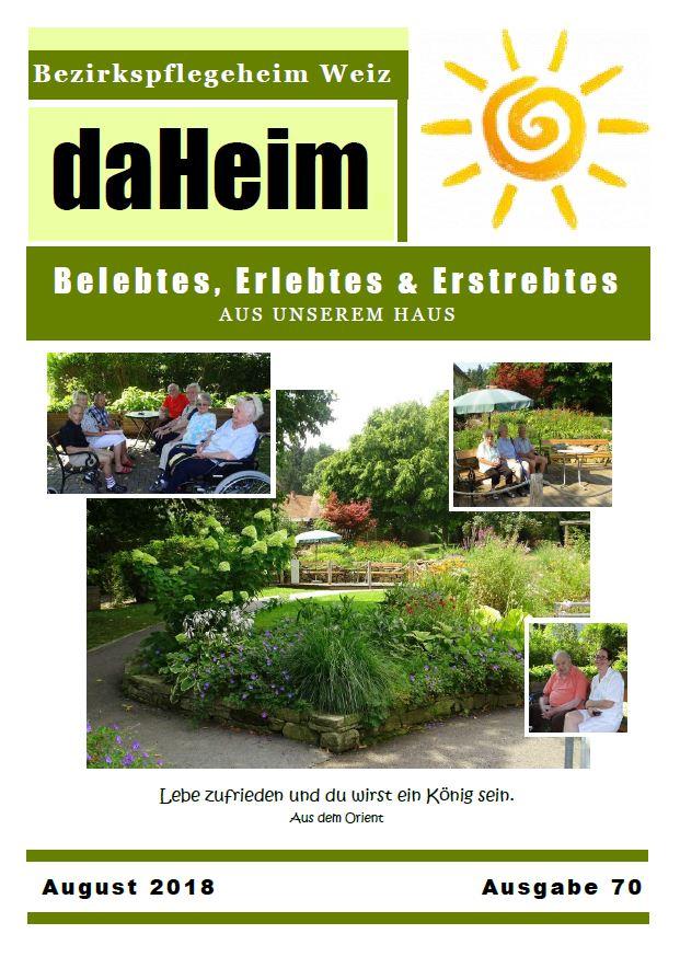 """Heimzeitung """"daHeim"""" 2018-08"""