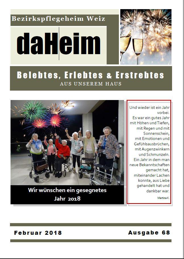 """Heimzeitung """"daHeim"""" 2018-02"""