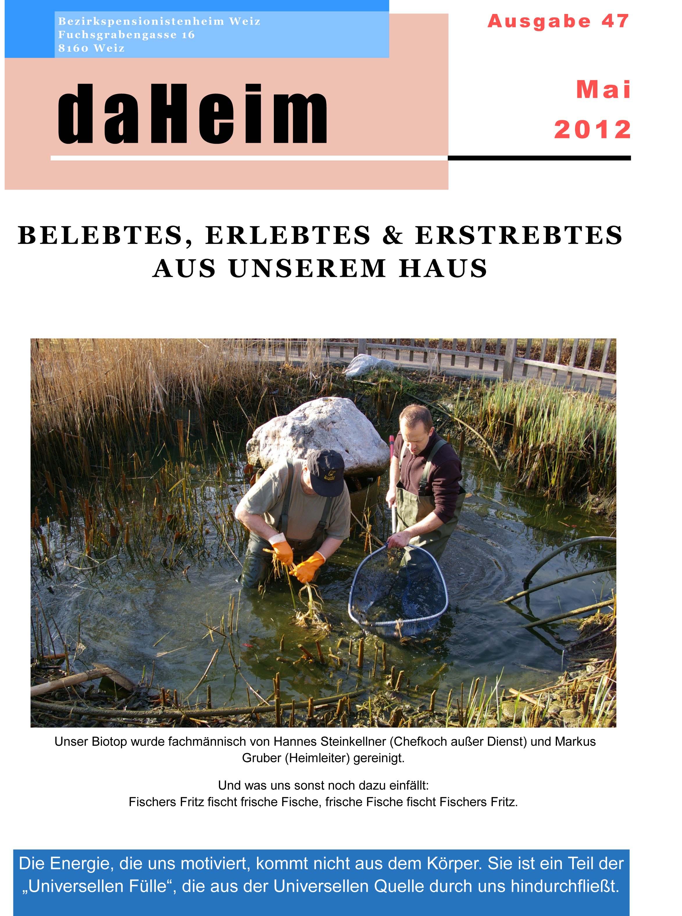 """Heimzeitung """"daHeim"""" 2012-05"""