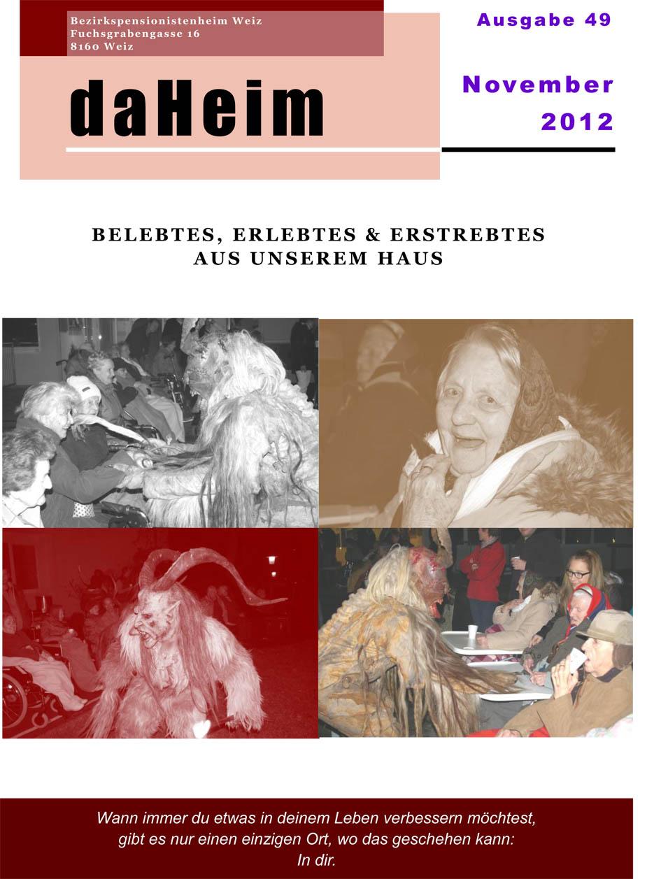 """Heimzeitung """"daHeim"""" 2012-11"""