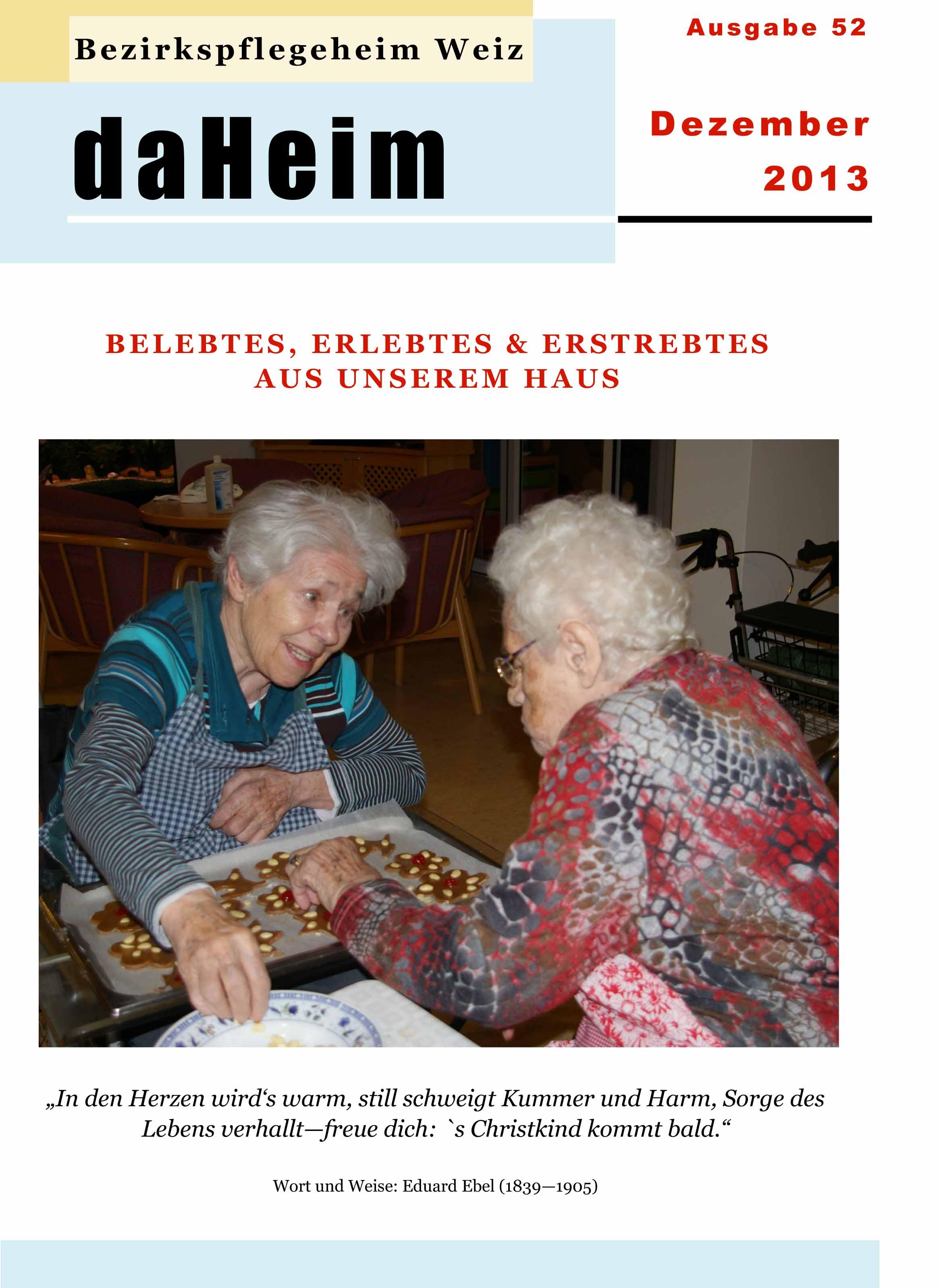 """Heimzeitung """"daHeim"""" 2013-12"""