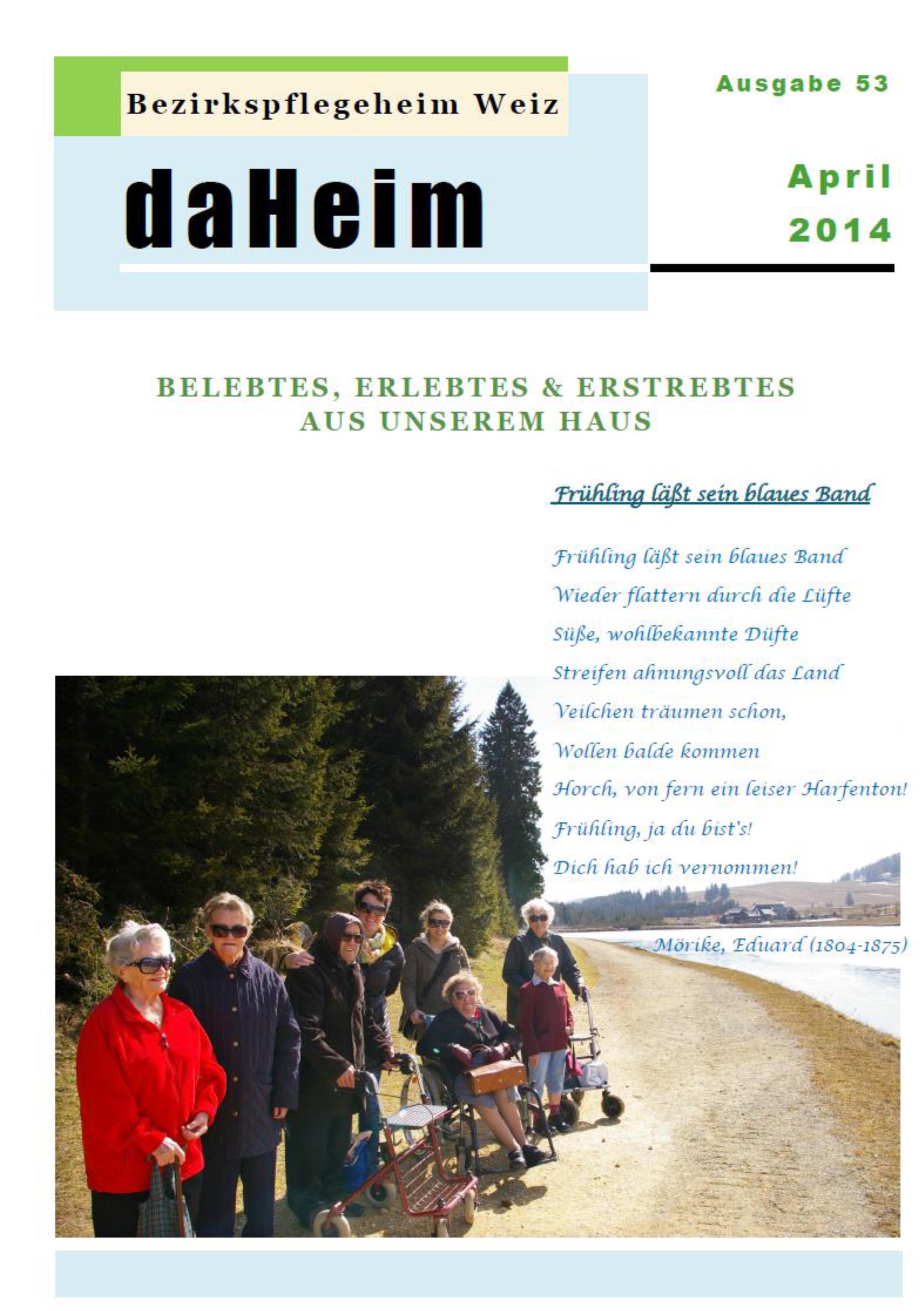 """Heimzeitung """"daHeim"""" 2014-04"""