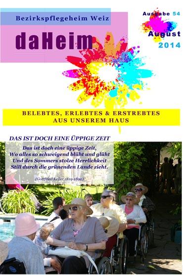 """Heimzeitung """"daHeim"""" 2014-08"""