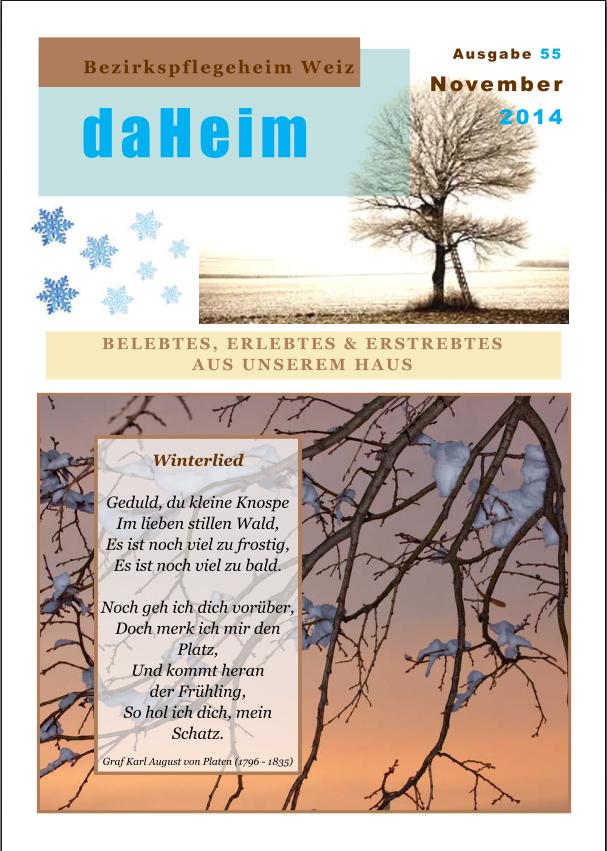 """Heimzeitung - """"daHeim"""" 2014-11"""