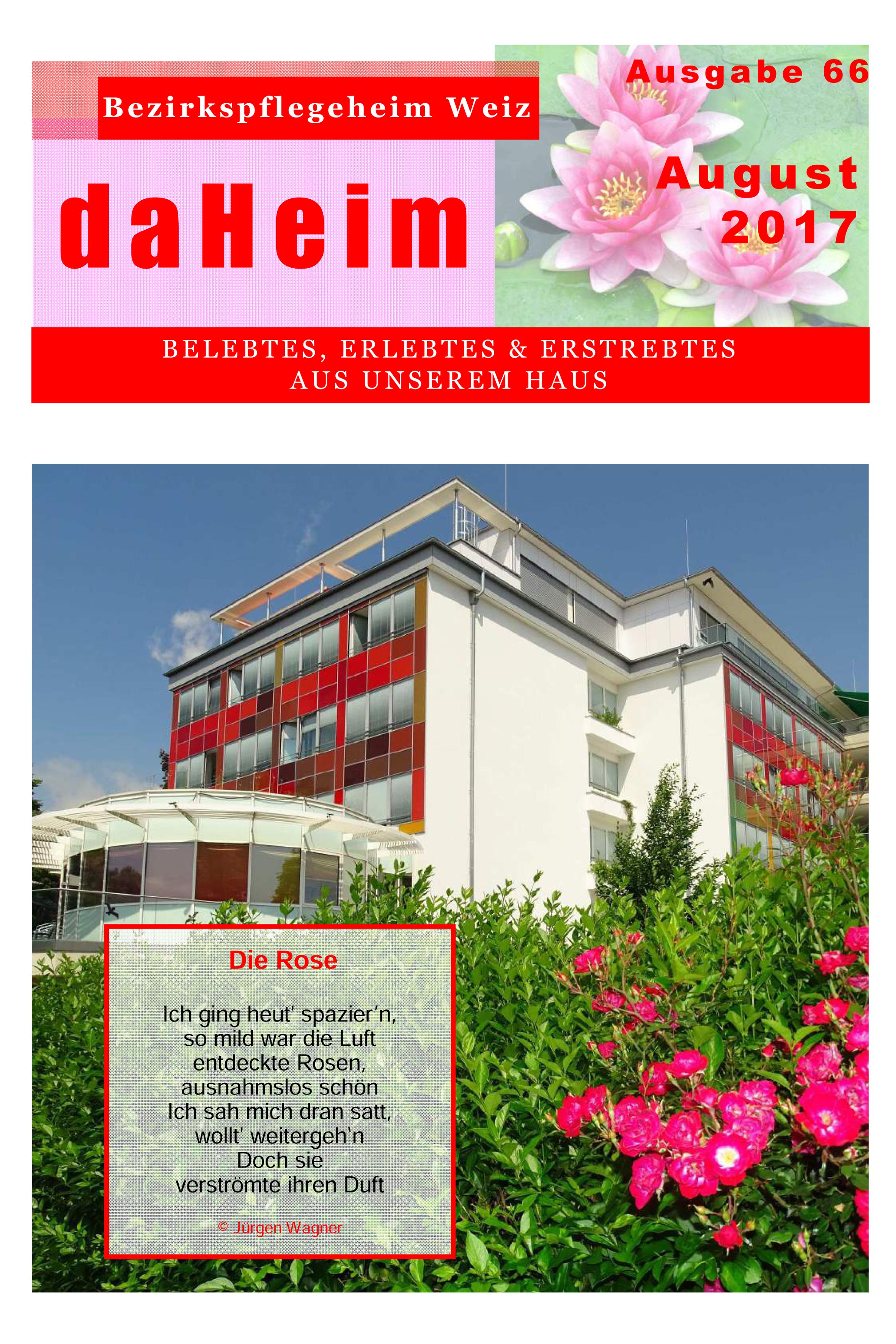 """Heimzeitung """"daHeim"""" 2017-08"""