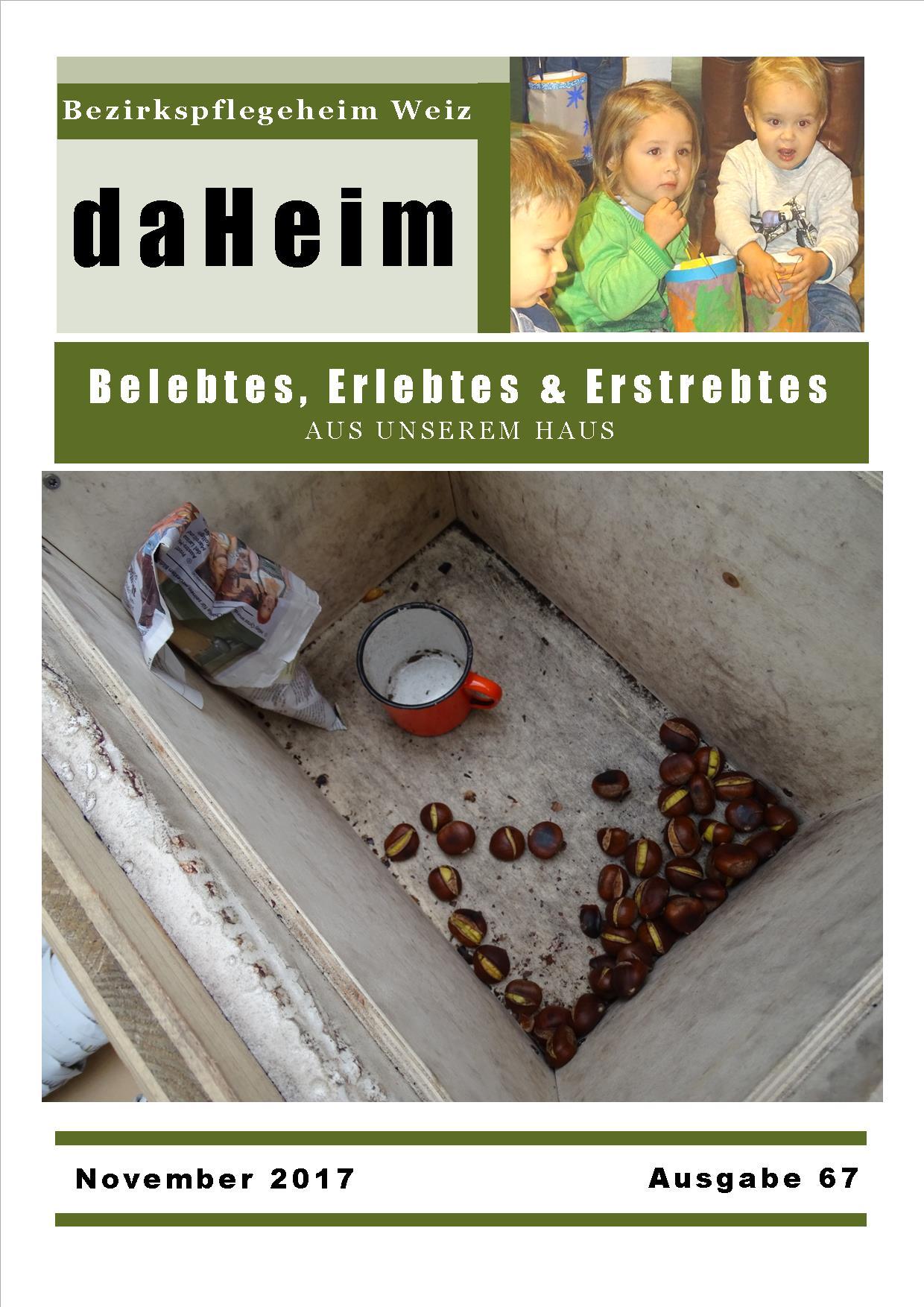 """Heimzeitung """"daHeim"""" 2017-11"""