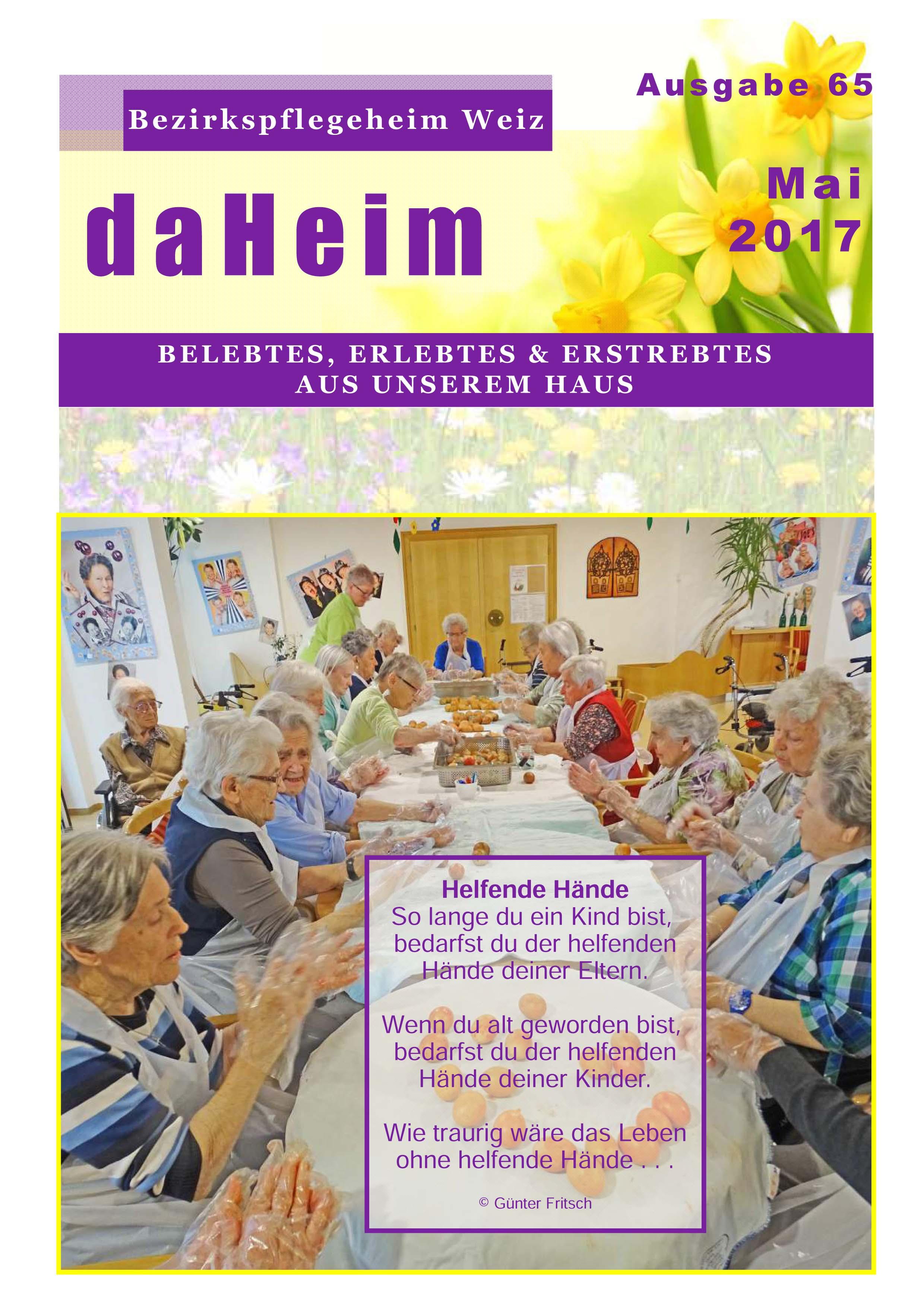 """Heimzeitung """"daHeim"""" 2017-05"""