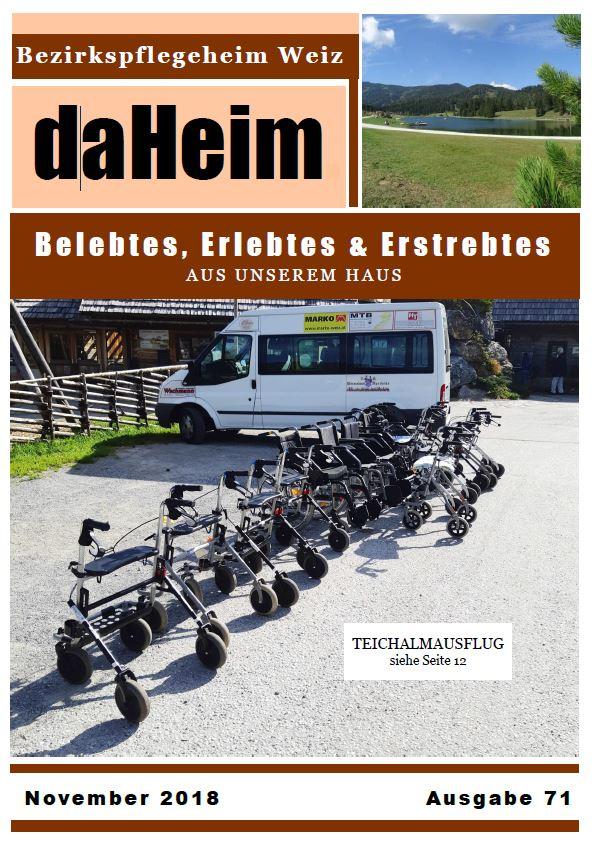"""Heimzeitung """"daHeim"""" 2018-11"""