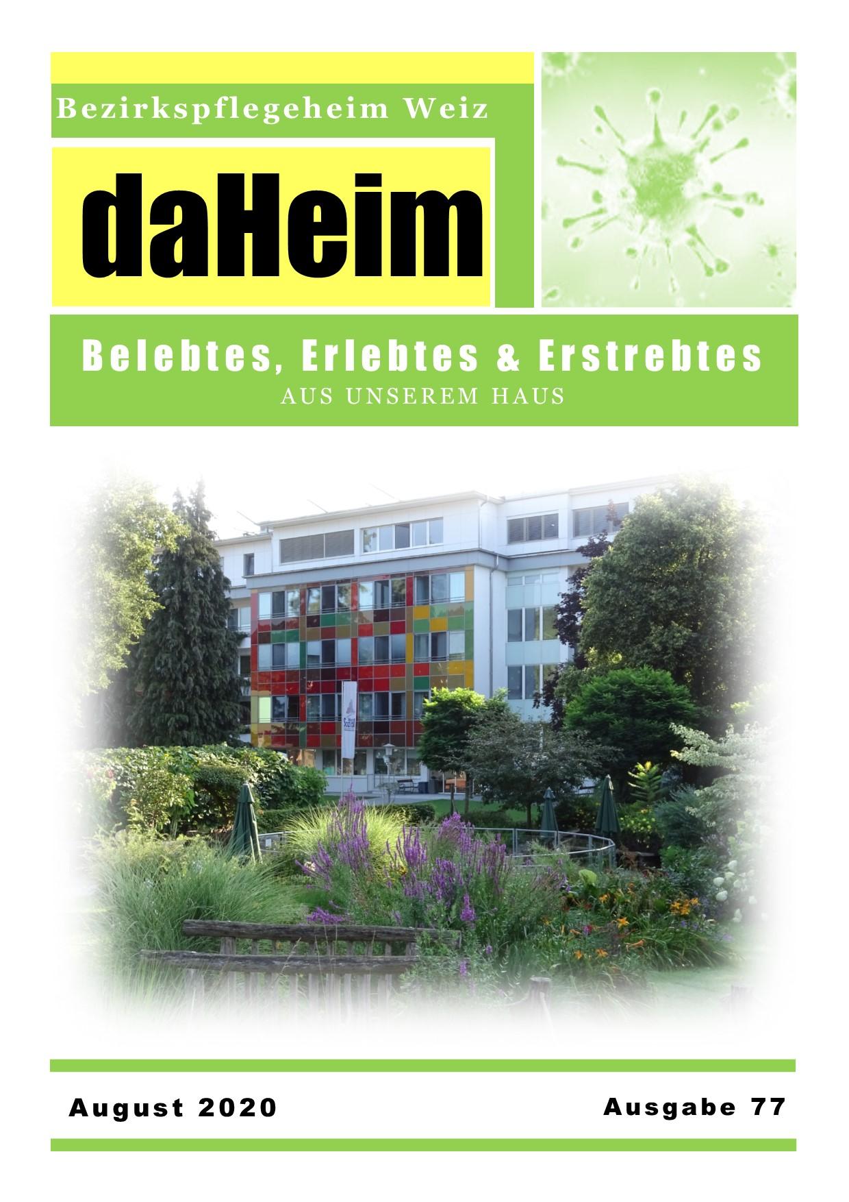 """Heimzeitung - """"daHeim"""" 2020-08"""