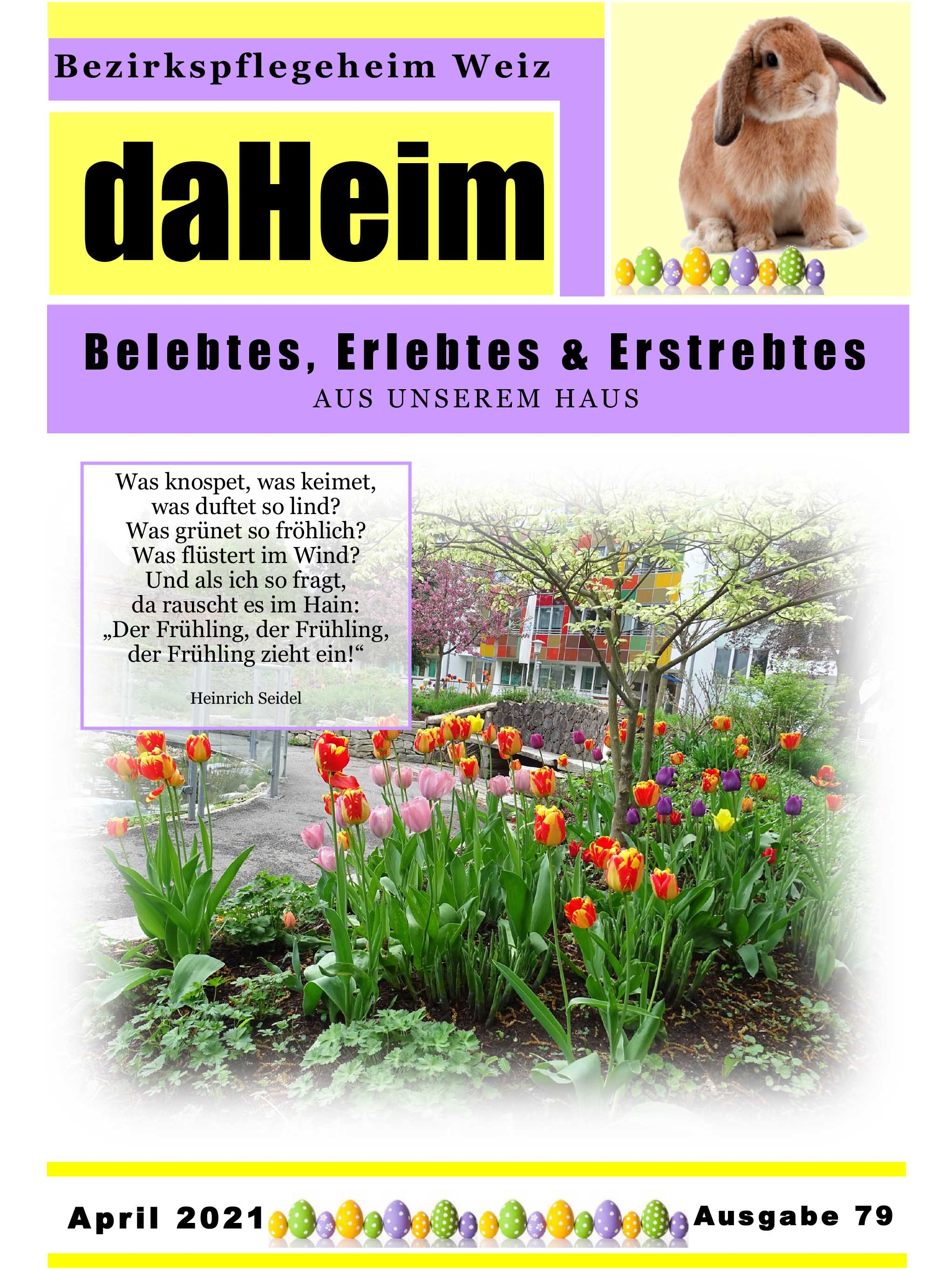 """Heimzeitung - """"daHeim"""" 2021-04"""