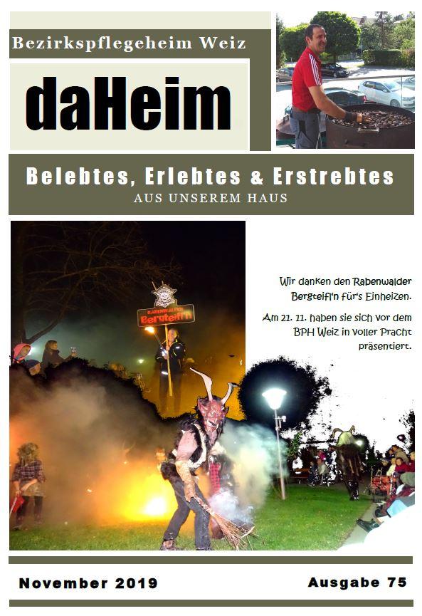 """Heimzeitung """"daHeim"""" 2019-11"""